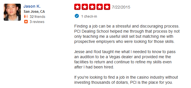 Yelp Reviews for PCI Dealer School